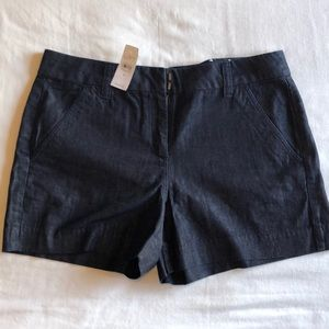 NWT | LOFT Dark Wash Denim Riviera Short size 8